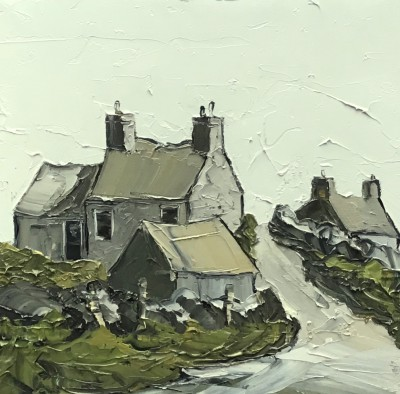 British Artist Martin LLEWELLYN - Cottage at the Top
