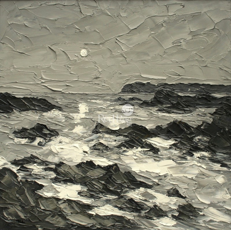 Martin LLEWELLYN - Moon above Trearddur Bay