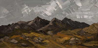 Martin LLEWELLYN, contemporary artist - Mountain Range, Snowdonia