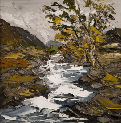 British Artist Martin LLEWELLYN - Mountain Stream