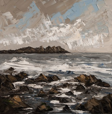 Martin LLEWELLYN, contemporary artist&nbsp;-&nbsp;<span style='color:red;font-size: 200%'>&#8226;</span> Rocks in Sea