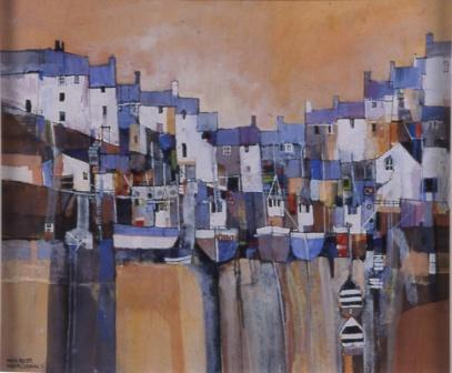 Limited Edition Prints Artist Martin Procter - Harbour, Cornwall 5