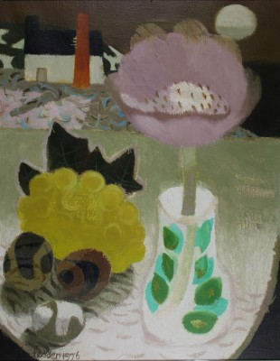 Cornish Still Life - oil painting by artist Mary Fedden