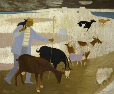 British Artist Mary FEDDEN - Goats on Gozo