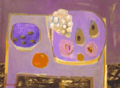 British Artist Mary FEDDEN - Mauve Still Life