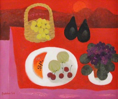 British Artist Mary FEDDEN - Red StillLife