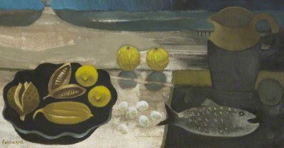 Mary FEDDEN - Seed Pods and Volcano