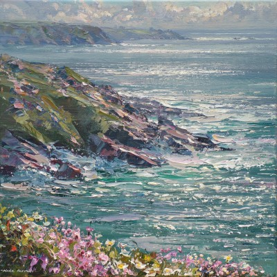 Mark PRESTON, contemporary artist - May Afternoon, Porthmeor Point