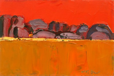 Mhairi McGREGOR, contemporary artist - Olgas, Northern Territory