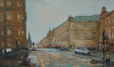 British Artist Michael EWART - Towards Princes Street, Edinburgh