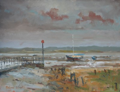 British Artist Michael EWART - Port Haverigg, Low Tide