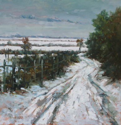 British Artist Michael EWART - Winter Lane