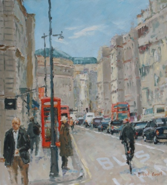 City Life painting by artist Michael EWART