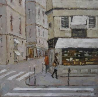 British Artist Michael EWART - Corner Shop, Paris