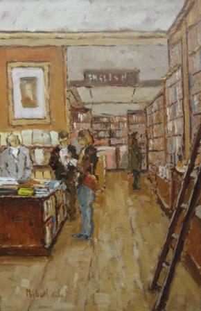 British Artist Michael EWART - The Book Shop