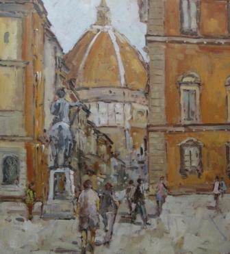 Michael EWART - Towards the Duomo, Florence