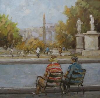 The Tuilleries Gardens, Paris painting by artist Michael EWART