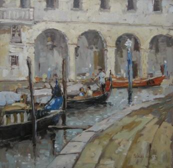 British Artist Michael EWART - Summer in Venice