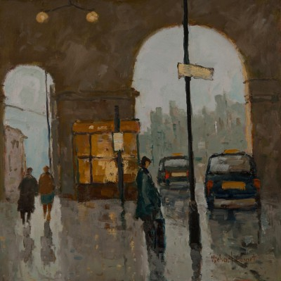 British Artist Michael EWART - Station Forecourt