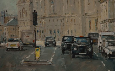 British Artist Michael EWART - Waiting at the Lights