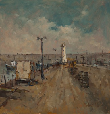 British Artist Michael EWART - The White Lighthouse