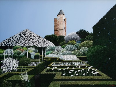 British Artist Michael KIDD - The White Garden