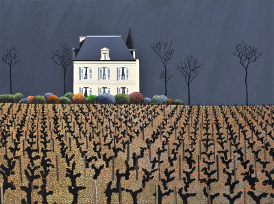 British Artist Michael KIDD - Chateau Latour Winter