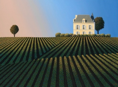 British Artist Michael KIDD - First Growth Last Light (Chateau Latour)