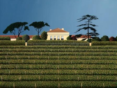 British Artist Michael KIDD - Lynch Bages (Bordeaux)