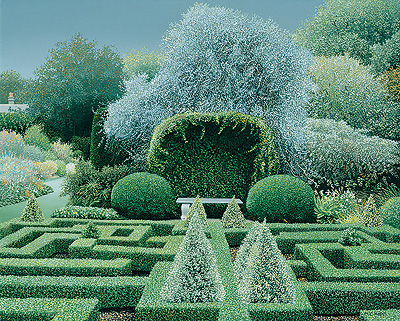 British Artist Michael Kidd - Box Garden Bourton House