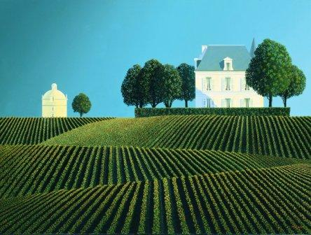 British Artist Michael Kidd - Chateau Latour and Dovecote