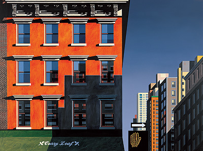 Limited Edition Prints Artist Michael Kidd - Curry Leaf, Lexington Avenue