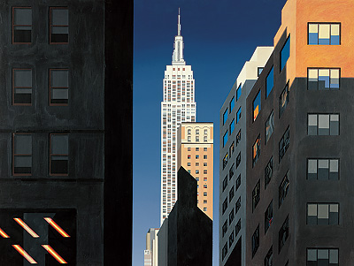 British Artist Michael Kidd - Evening Light, 5th Avenue