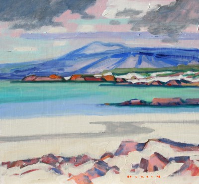 'Mull from Iona ' painting