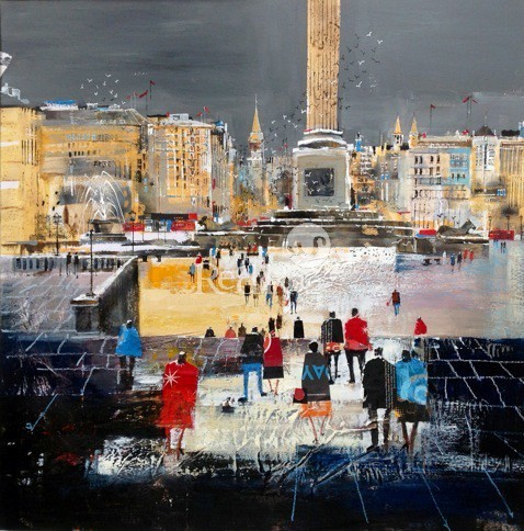 Nagib KARSAN - Trafalgar Square from the National Gallery