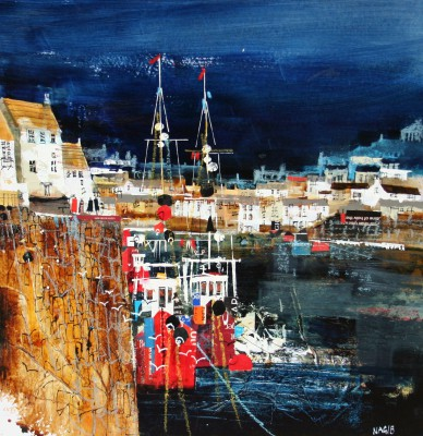 Nagib KARSAN - Looking Across the Harbour, Polperro