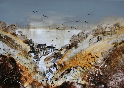 British Artist Nagib KARSAN - View to the Sea, Bucks Mills