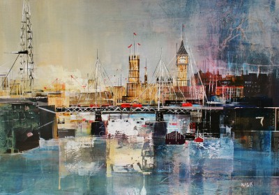 Nagib KARSAN - The Palace of Westminster, River Thames
