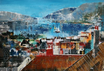 British Artist Nagib KARSAN - View over the Estuary, Dartmouth