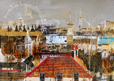 British Artist Nagib KARSAN - Westminster and the London Eye