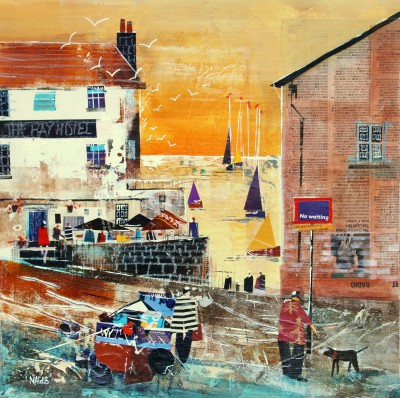 British Artist Nagib KARSAN - Enjoying the View, Robins Hood Bay
