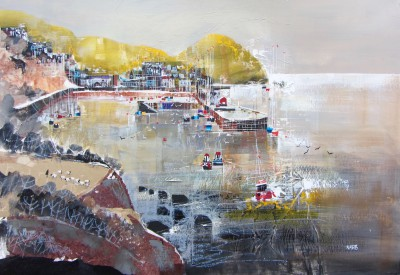 British Artist Nagib KARSAN - View across from Harbour, Ilfracombe