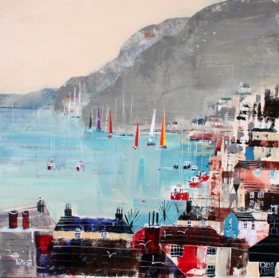 British Artist Nagib KARSAN - Sailing On The Dart