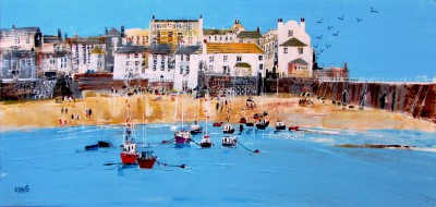 British Artist Nagib KARSAN - St Ives, Blue Skies