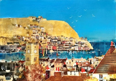 British Artist Nagib KARSAN - Looking to Kingswear from Dartmouth
