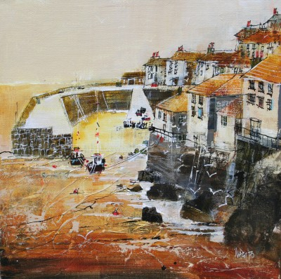 British Artist Nagib KARSAN - Coverack Harbour