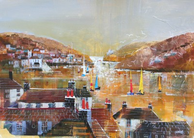 British Artist Nagib KARSAN - Catching the Wind, Dart Estuary