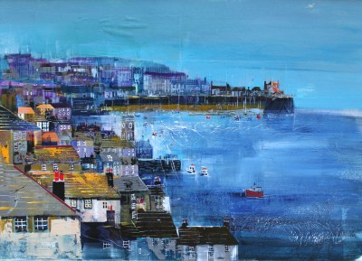 British Artist Nagib KARSAN - St Ives in the Evening