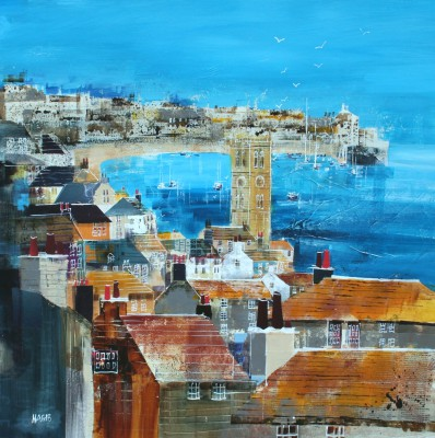 British Artist Nagib KARSAN - Summer's Day, St Ives