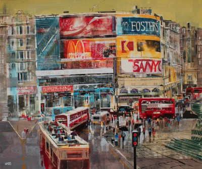 British Artist Nagib KARSAN - Traffic, Piccadilly Circus